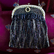 Art Nouveau French Beaded Bag Pristine