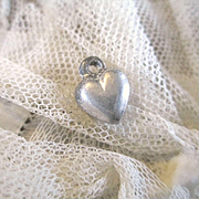 Tiniest Sterling Puffy Heart For Doll Pendant