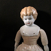 REDUCED Lovely Low Brow China Shoulder Plate Doll