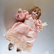Tiny Girl Baby Dollhouse Doll Original Clothes