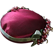 SOLD Pink Berries 1950's Silk Fascinator Hat R.H. Stearns Co.