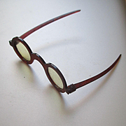 REDUCED Old Celluloid Tortoise Glasses For Doll Or Teddy