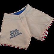 Darling Peachy Pink Satin Dolly Pants Souvenir