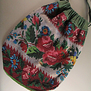 Roses Pattern Micro Beaded Bag