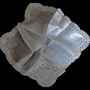 Austrian Wedding Hanky Heart  Label Desco Unused