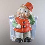 Darling Luster Ware Leprechaun Match Safe
