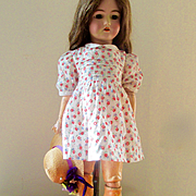 Sweetest Dimity Doll Dress Roses