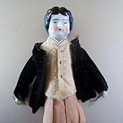 Male Antique China Dollhouse Father Needs Boot