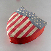 Early 1900's Silk Union Flag Candy Box