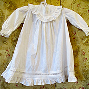 Darling Antique Tiny Girl's Dress For Larger Doll