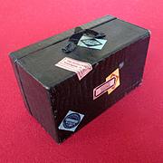 Darling Vintage Doll's Trunk Suitcase Hotel Labels