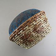 Victorian Shaker Or Native American Velvet Sewing Kitten Head Pin Cushion