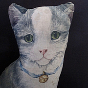 Early 1900's Arnold's Toy Works Lithographed Cat with Ribbon Bell