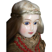 """SALE PENDING Lovely Wax Fashion Doll 18"""" w/Working Squeaker"""