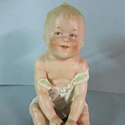 Antique Heubach German Piano Baby Figurine