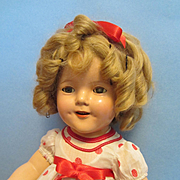 """Ideal 18"""" Composition Shirley Temple Doll and Coat"""
