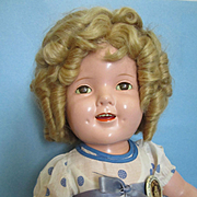 """Ideal 20"""" Composition Shirley Temple Doll"""