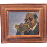 REDUCED A Portrait of Dixieland Jazz Musician Sidney DeParis by Davis Quinn (Died 1984)