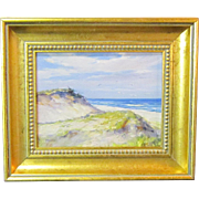 A 20th Century American Seascape Painting with Sand Dunes by Laszlo De Nagy (1906-1944)