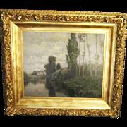 A Landscape by American Tonalist Painter Robert Ward Van Boskerck (1855-1932)