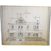 A Set of 19th Century Portland, Oregon Architectural Drawings by Justus Krumbein (1847-1907)