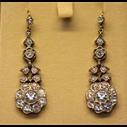 Antique paste silver earrings