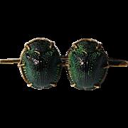 Victorian scarab beetle brooch