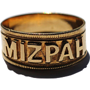 SOLD Victorian 15kt 'mizpah' ring
