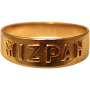 SOLD Victorian 18kt gold Mizpah ring