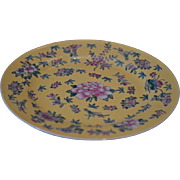 Lovely Citron Export Chinese Porcelain Plate with Floral Swirl