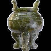 Antique Jade Zhaofu carved from Xiuyan Jade: Circa China 1700-1750