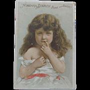 Trade Card Shy Little Girl for Niagara Starch