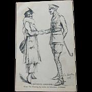 Postcard 1905 WW1  L'entente Cordiale