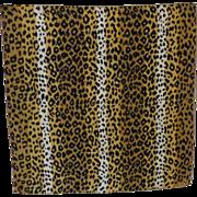 Tiger Pattern Silk Scarf ~ Echo Label