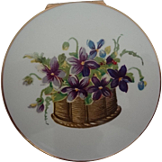 SALE Stratton English Compact Mint Condition Violets on Lid