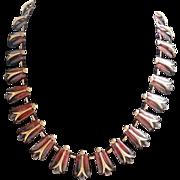 SALE Renoir Signed Necklace 1950's Copper Modernist