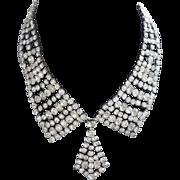 "SALE Rhinestone Necklace ""Tie"" Design"