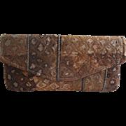 Rust Fabric Metallic Threads Purse Australian Crafted Handbag