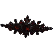 Victorian Rose Cut Garnet Pin