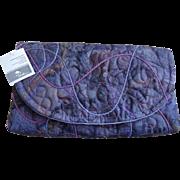 Purple Shaded Purse Handbag Hand Crafted Australia
