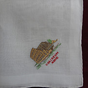 Hankie Coliseum in Rome, Embroidered