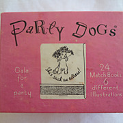 SOLD Party Dog Matches Set of 24 Matchbooks