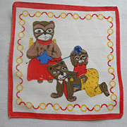 Three Little Bears Childrens Hankie