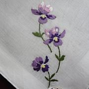 Violets Hankie Brumel Never Used