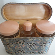 Traveling Toiletry Set & Satin Case from England MINT