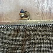 Gold Fine Mesh Antique Bag  Whiting & Davis