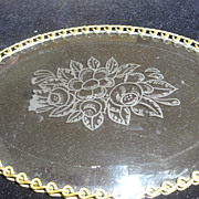 Small Dresser Vanity Tray Etched