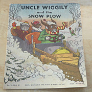 SOLD Uncle Wiggily and The Snow Plow – Children's Illustrated Book 1939