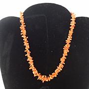 Vintage Coral Branch Choker Necklace