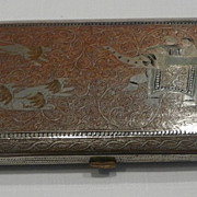 Lovely Persian Metal Enameled Cigarette Case